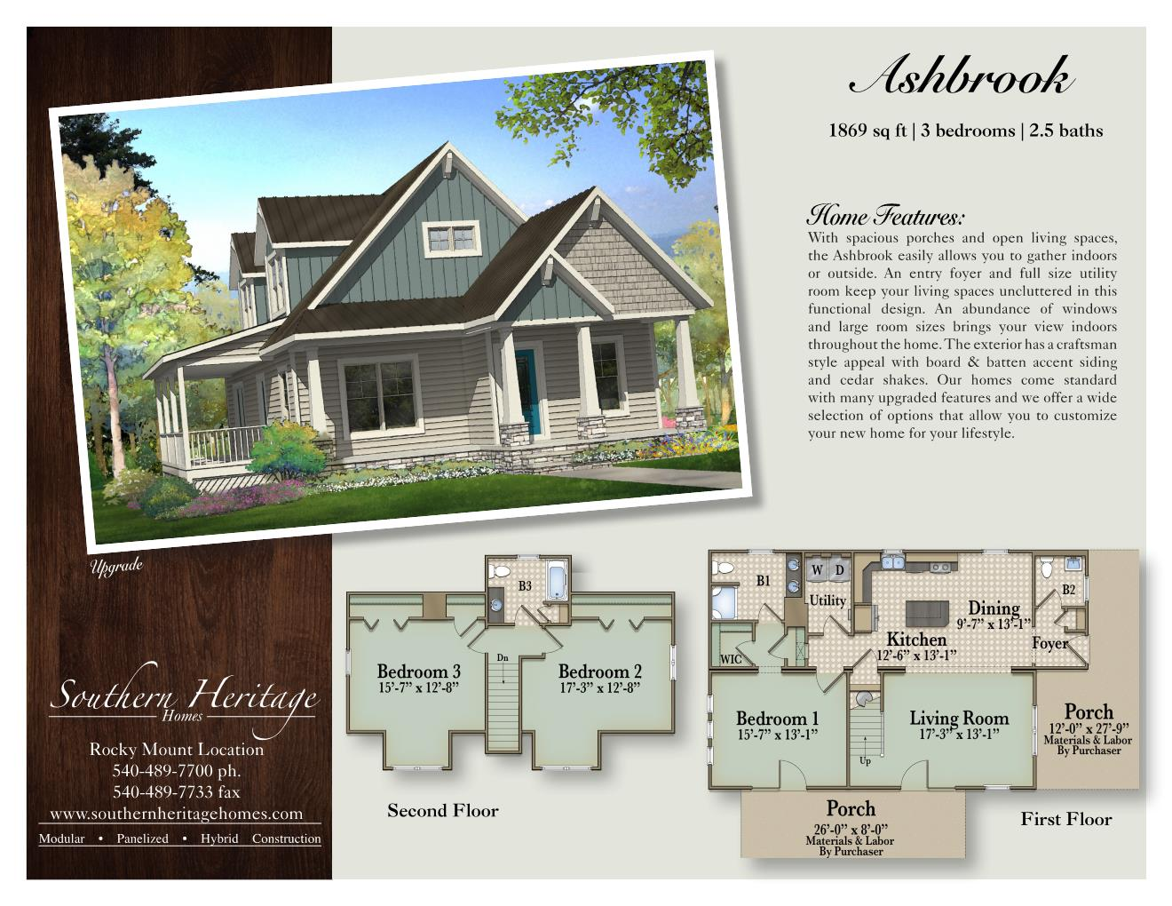 The Ashbrook Southern Heritage Homes